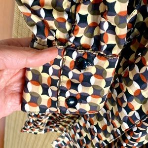 Zara Dresses - Vintage Zara Love TRF GeoMod Button Dwn Shirtdress